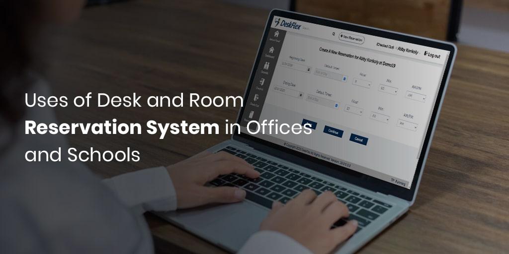 Verwendung des Schreibtisch- und Raumreservierungssystems in Büros und Schulen
